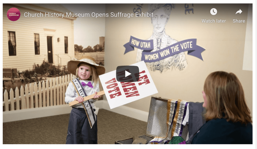 A new exhibit of items that belonged to some of Utah's prominent Latter-day Saint suffragists, along with historical documents associated with suffrage legislation, is now open to the public at the Church History Museum.