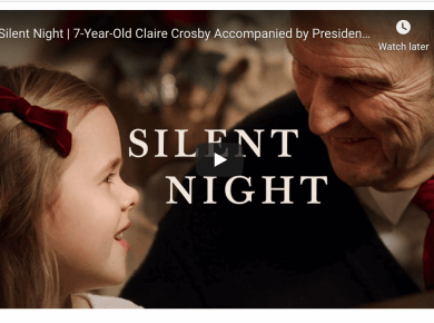 Silent Night | 7-Year-Old Claire Crosby Accompanied by President Russell M. Nelson #LightTheWorld LDS Mormon Life Hacker video