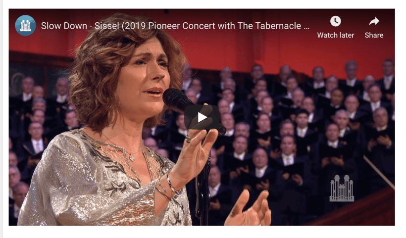 Sissel Tabernacle Slow Down LDS Mormon Choir