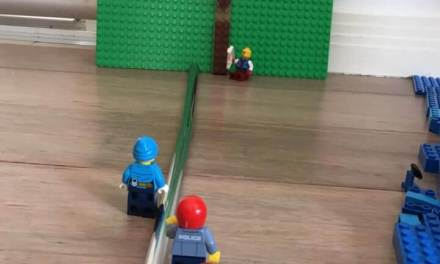 Lego Lehi's Tree of Life shows: post and images from a mom show how one dad teaches the #ComeFollowMe lessons in a way his sons will understand and engage