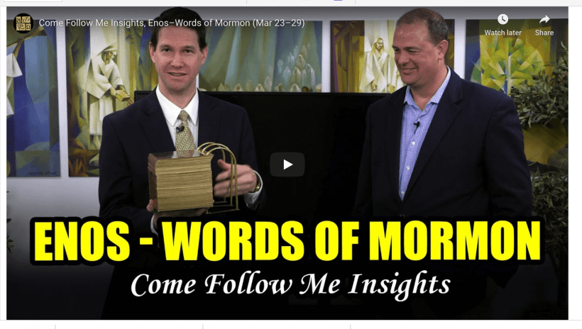 Come Follow Me Insights, Enos–Words of Mormon (Mar 23–29) Book of Mormon