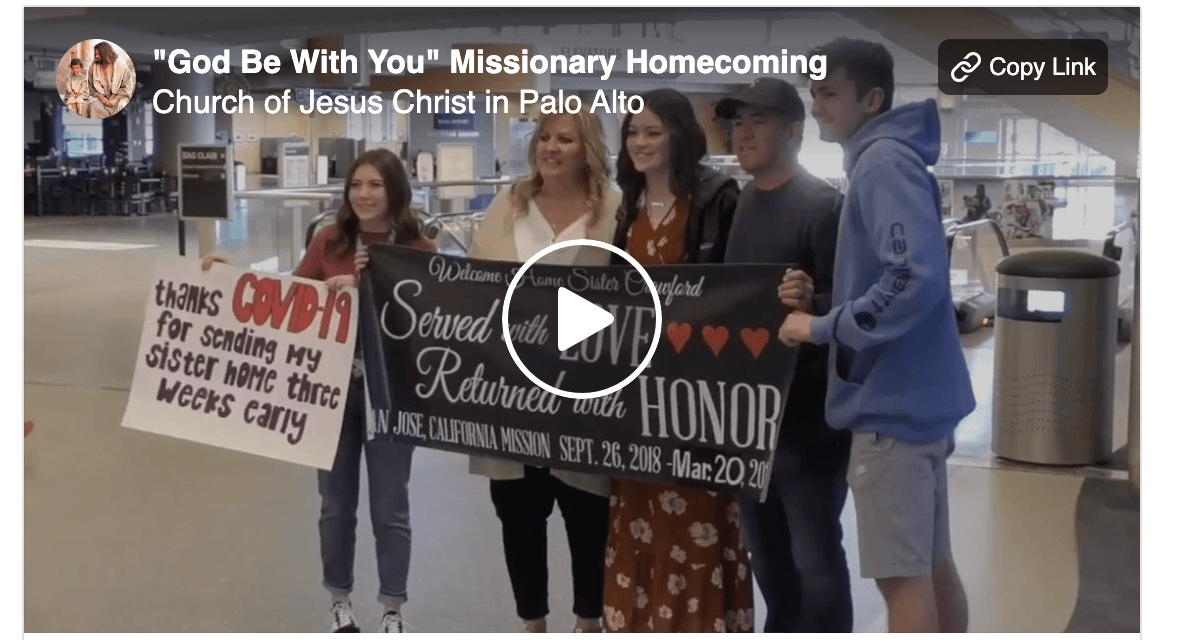 "Returning Missionaries: ""God Be With You Till We Meet Again"""