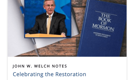 "Book of Mormon Central ""Celebrating the Restoration Reading Plan"" March 30–April 4 #HearHim by Jack Welch"