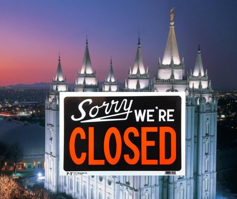 All Latter-day Saint temples will close tonight due to coronavirus pandemic Covid19 #Mormon #LDS