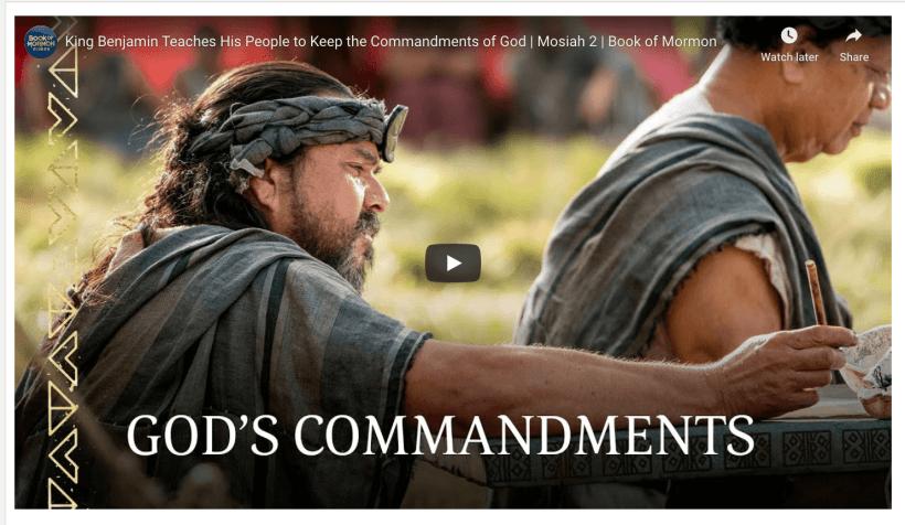 King Benjamin Book fo Mormon Videos LDS