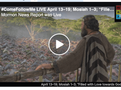 "#ComeFollowMe LIVE with Brandt, Jenny (@formerly phread, and John (Latter-day Saint Life Hacker) April 13–19; Mosiah 1–3; ""Filled with Love towards God and All Men"""