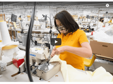 VIDEO: Beehive Clothing Sews Surgical Gowns and Masks During COVID-19 Pandemic