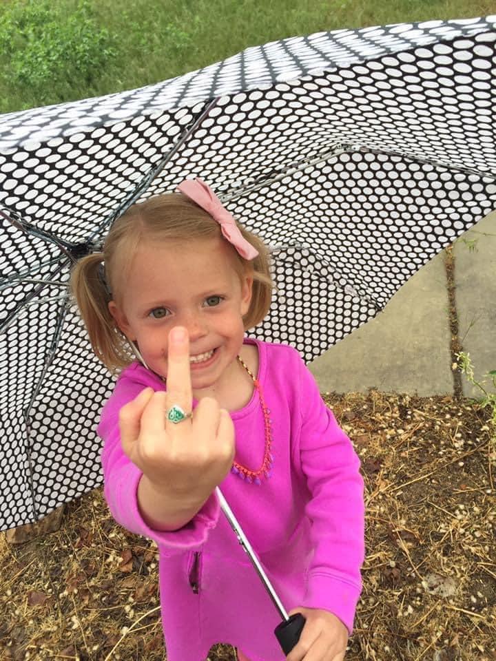 CTR ring middle finger funny little girl LDS Mormon