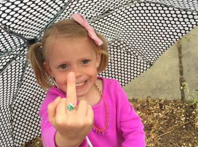 CTR ring middle finger funny little girl LDS Mormon