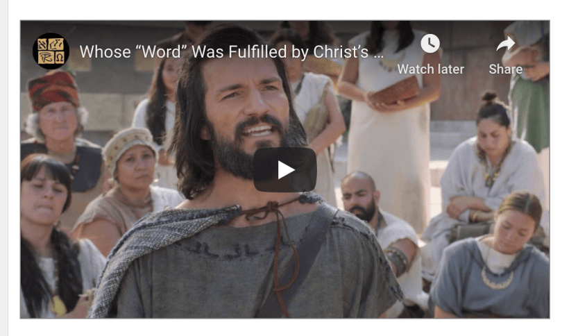 "Whose ""Word"" Was Fulfilled by Christ's Suffering ""Pains and Sicknesses""? (Knowhy #564)"