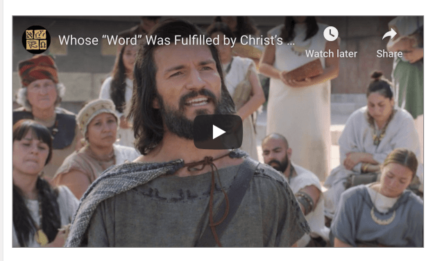 "VIDEO Whose ""Word"" Was Fulfilled by Christ's Suffering ""Pains and Sicknesses""? (via Book of Mormon Central)"