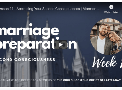 VIDEO: Mormon Marriages: Absence of Problems ≠ Better Marriage... Nate Bagley