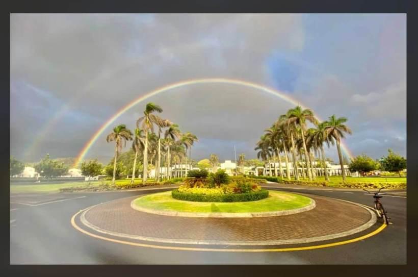MUST SEE: ? Double rainbow over Laie, Hawaii Latter-daySaint Temple is ? ? Kingsley Kmv Ah You