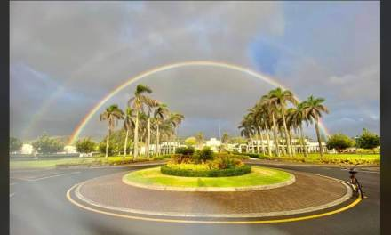 MUST SEE: 🌈 Double rainbow over Laie, Hawaii Latter-daySaint Temple is 💯 🌈