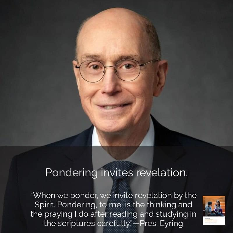 """**#ComeFollowMe nugget** Pondering invites revelation. If you have ever felt downtrodden, anxious, or confused, you might learn an important lesson from Nephi's example in Helaman 10:2–4. What did he do when he felt """"cast down""""? (verse 3). President Henry B. Eyring taught, """"When we ponder, we invite revelation by the Spirit. Pondering, to me, is the thinking and the praying I do after reading and studying in the scriptures carefully"""" (""""Serve with the Spirit,"""" Ensign or Liahona, Nov. 2010, 60). How might you create a habit of pondering? More at www.mormonlifehacker.com Join us for #ComeFollowMe LIVE this week: https://www.facebook.com/MormonNewsReport/videos/712523379385776/"""