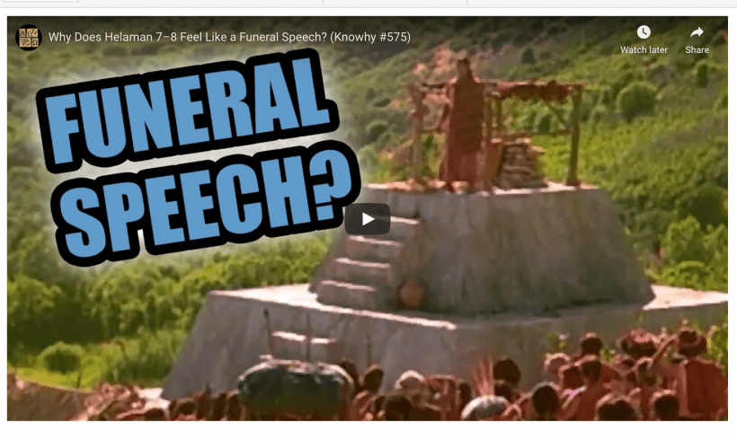 Why Does Helaman 7–8 Feel Like a Funeral Speech? (Knowhy #575)