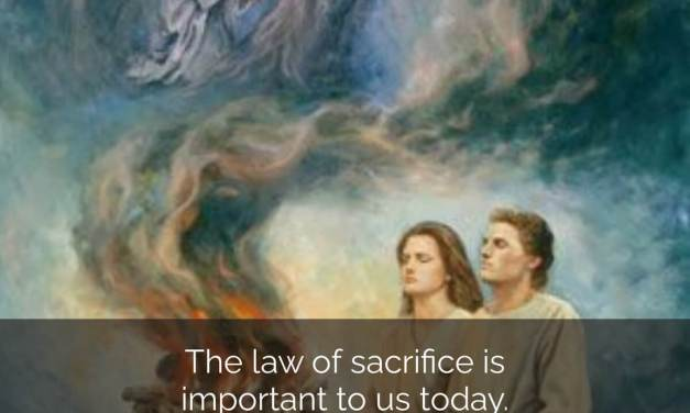"""#ComeFollowMe nugget — 3 Nephi 8-11 — Book of Mormon Lesson 37: September 14–20 """"Arise and Come Forth unto Me"""" — The law of sacrifice today"""
