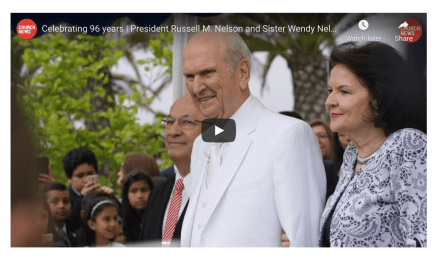 VIDEO: Celebrating 96 years | President Russell M. Nelson and Sister Wendy Nelson