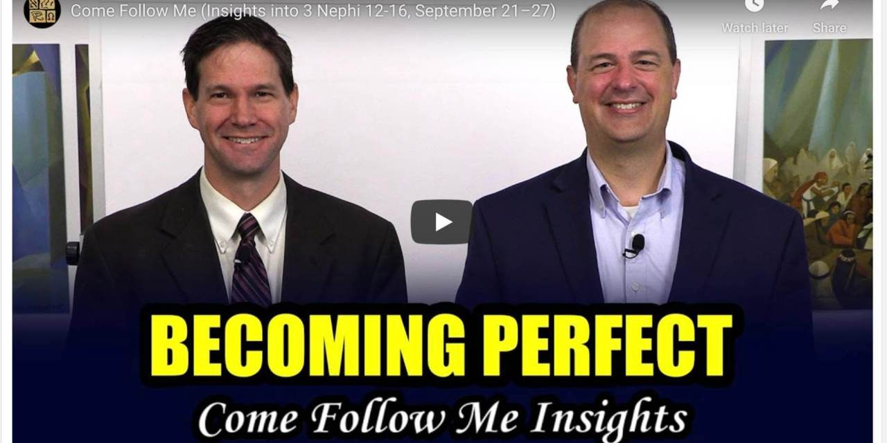VIDEO: BOOK OF MORMON CENTRAL COME FOLLOW ME 3 NEPHI 12-16 (SEPT. 21-27) #COMEFOLLOWME WITH TAYLOR AND TYLER