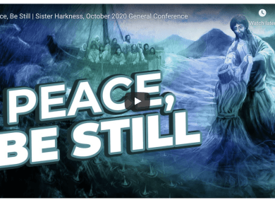 VIDEO: Sister Lisa Harkness: 'Peace, Be Still' | #GeneralConference October 2020
