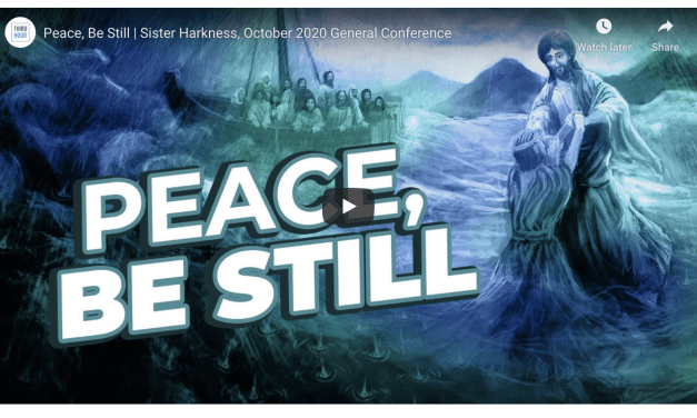 VIDEO: Sister Lisa Harkness: 'Peace, Be Still' | #GeneralConference October 2020 (Third Hour)