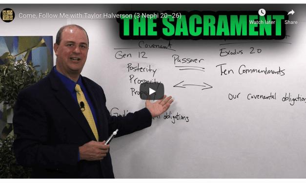VIDEO: BOOK OF MORMON CENTRAL COME FOLLOW ME 3 NEPHI 20-26  #COMEFOLLOWME WITH TAYLOR | The Sacrament