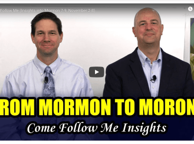 VIDEO: Come Follow Me from Book of Mormon Central (Insights into Mormon 7-9, November 2-8) with Taylor and Tyler | #ComeFollowMe