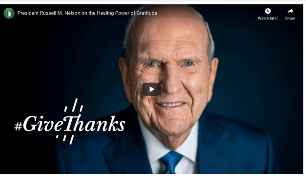 VIDEO: #GiveThanks highlights | Russell M. Nelson on Gratitude (General Conference 1984-2020) | Latter Day Divers