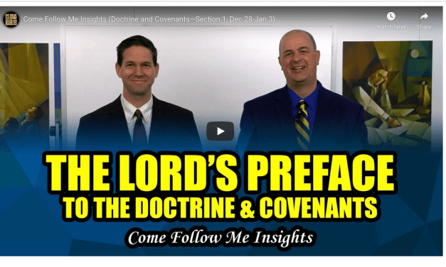 VIDEO: Taylor and Tyler | Book of Mormon Central | Come Follow Me Insights (Doctrine and Covenants—Section 1, Dec 28-Jan 3)