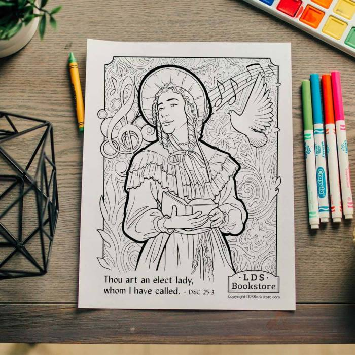 """An Elect Lady Coloring Page - FREE Printable 