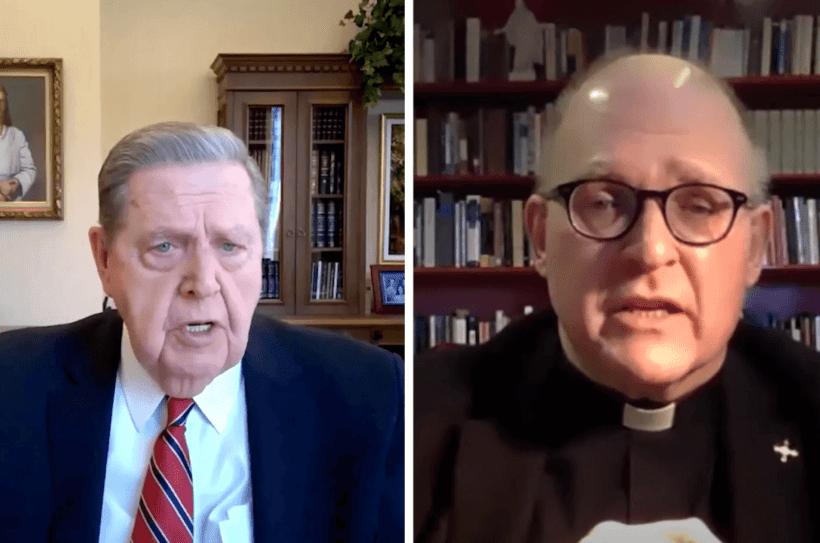Elder Jeffrey R. Holland and Rev. Dr. Andrew Teal speak (a visiting professor at BYU)