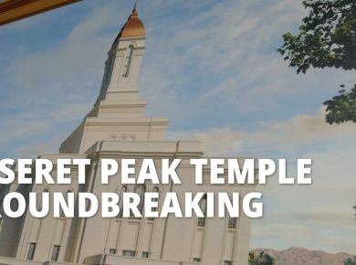 Deseret Peak Temple Groundbreaking Full Ceremony