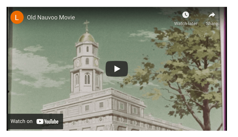 Check out old Nauvoo before many renovations took place!