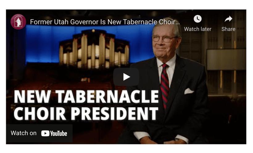 Tabernacle Choir Leadership Change Announced by First Presidency