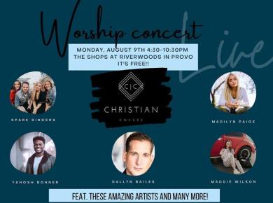 Christian Covers concert FREE CONCERT!!!! Come see some AWESOME people! It will be a come and go concert from 4:30-10:30pm and it is FREE!!