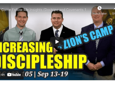 """Come, Follow Me Doctrine and Covenants Lesson 38: September 13–19 """"After Much Tribulation … Cometh the Blessing"""" Doctrine and Covenants 102–105"""
