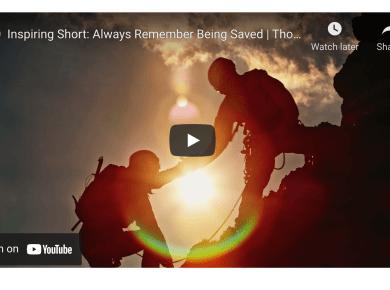 VIDDEO: Inspiring Short — Always Remember Being Saved | Thomas B. Griffith | BYU