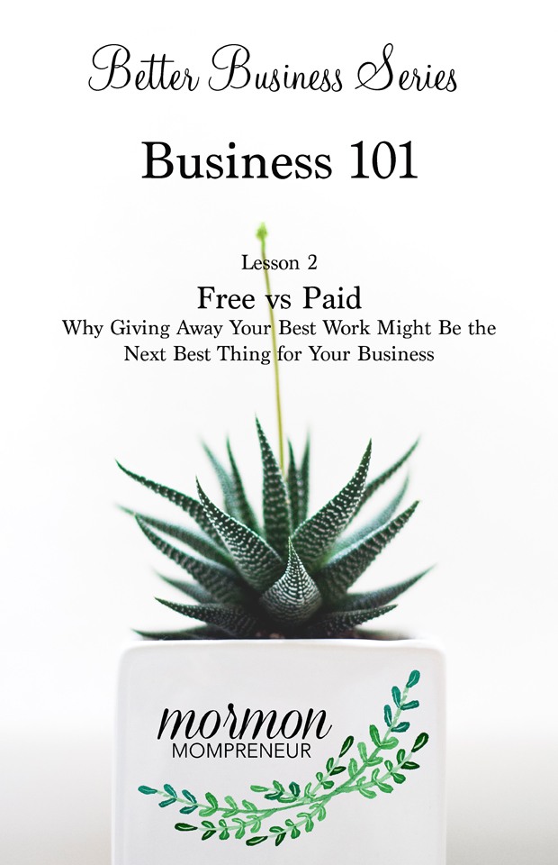 Free vs Paid:  Why giving away your best work might be your next best thing for your business!