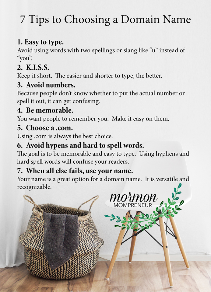 How to start a blog in 30 minutes or less. www.Mormonmompreneur.com