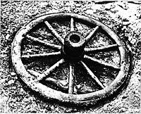 Fig. 4  Wheel found in La Tène (Vouga 1923)