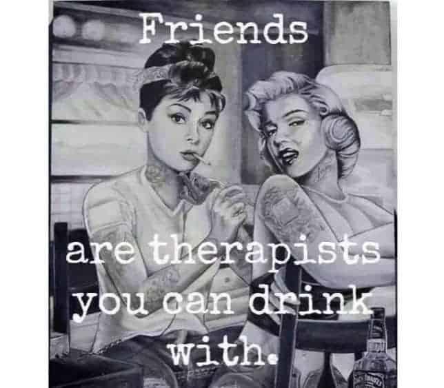Hvad skal vi med terapeuter, når vi har gode veninder?