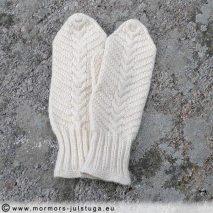 Handstickade vantar med flätmönster - VA2-001