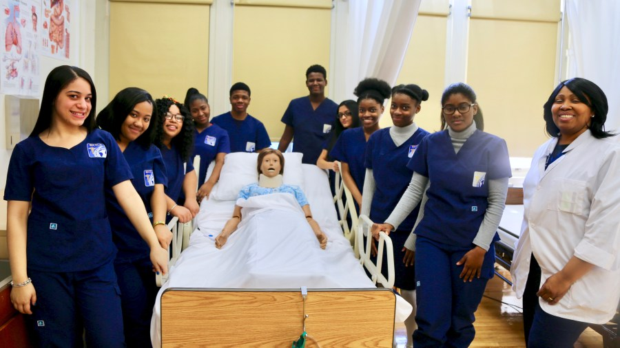WATCH's Juniors Pose with Mrs. Smith After a Job Well-Done