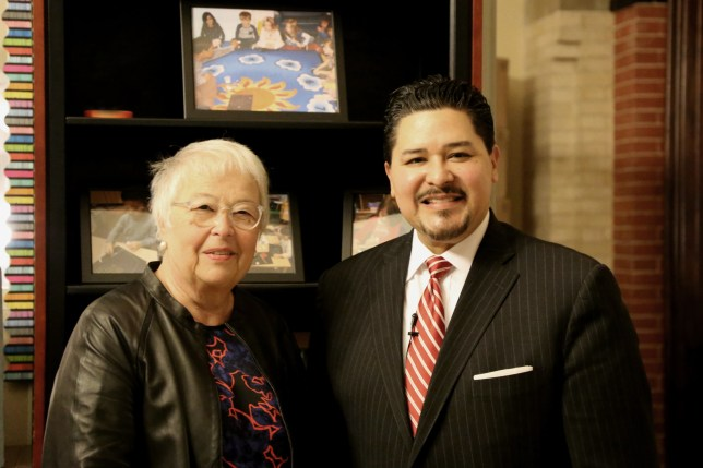 Chancellor Fariña Stands with Her Newly-Appointed Successor, Richard Carranza