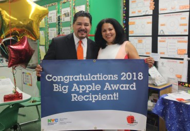 Chancellor Carranza Presented Marisol FitzMaurice with a 2018 Big Apple Award