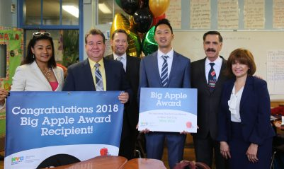 Congratulations to 2018 Big Apple Award Winner, Ryuma Tanaka, of I.S. 145 in Queens