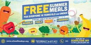 Free Summer Meals Banner