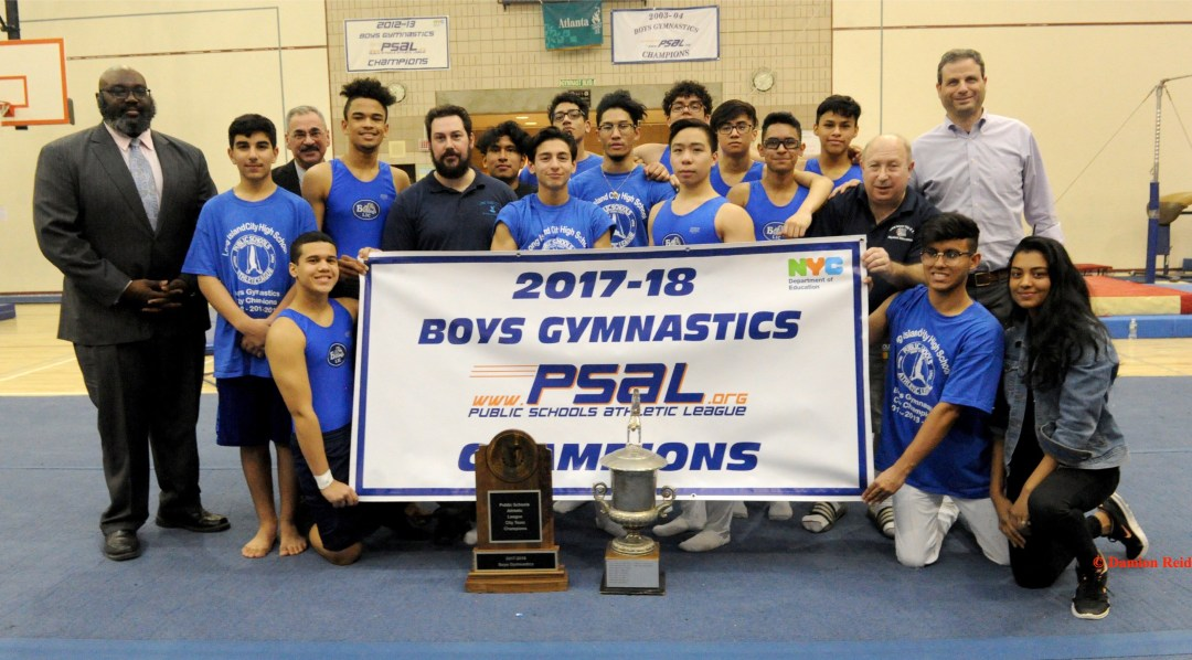 Long Island City High School Won the PSAL 2017–18 Boys Gymnastics Championship
