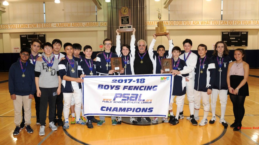Brooklyn Tech Wins the PSAL 2017–18 Boys Fencing Championship