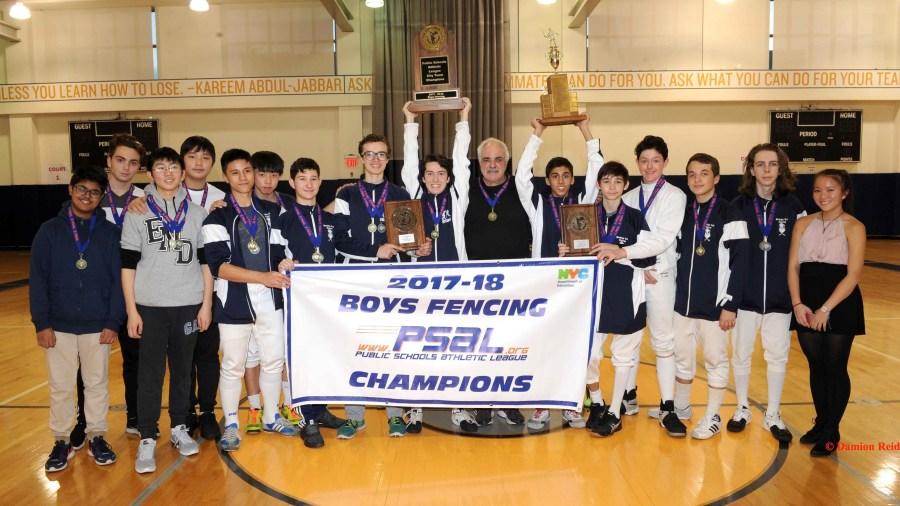 Brooklyn Tech Wins the PSAL 2017–18 Boys Fencing Championship